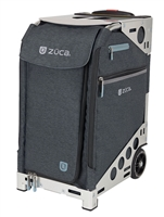 ZUCA Pro Travel Bag Slate and silver with wheels