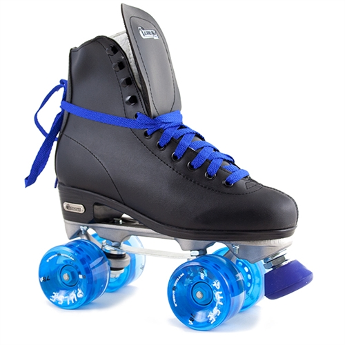 Chicago Roller Skates Black with Blue Pulse