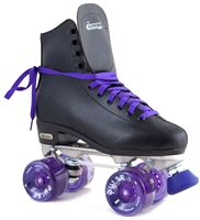 Chicago Roller Skates Black with Purple Pulse