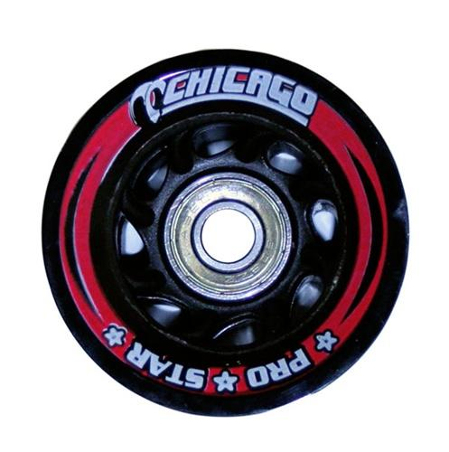 Chicago Pro Star Roller Skate Wheels BLACK 60mm (8 pack)