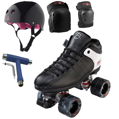 Riedell Roller Skates Dash Cayman Swirl Black Package