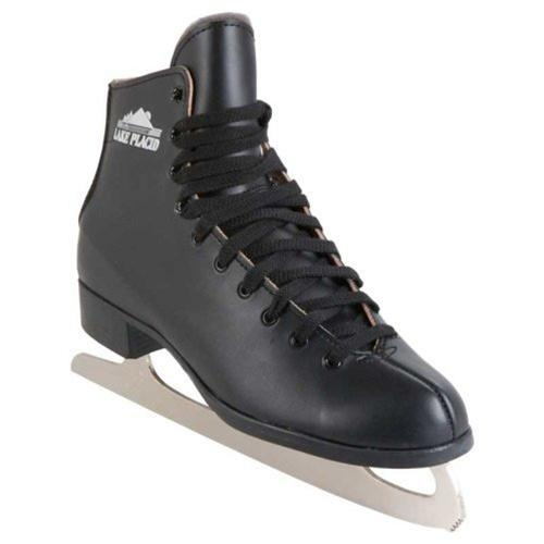 Lake Placid  InsulatedLeather Lined Ice Skates Black