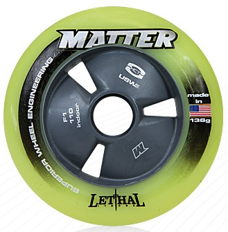 Matter Juice Inline Speed Wheels F1 Yellow - 105mm - 8 SET