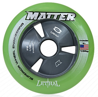 Matter Lethal Inline Speed Wheels F2 Green - 105mm - 8 SET
