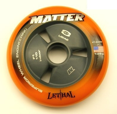 Matter Lethal Inline Speed Wheels Orange - 105mm - 8 SET