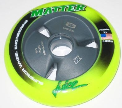 Matter Lethal Inline Speed Wheels F1 Yellow - 105mm - 8 SET