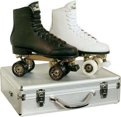 Pacer Fandango Roller Skates mens or womens black or white & skate case!