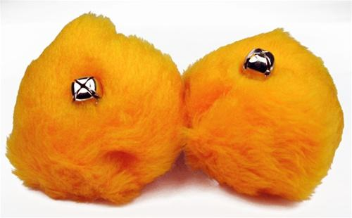 Roller Skate Pom Poms - Light Orange