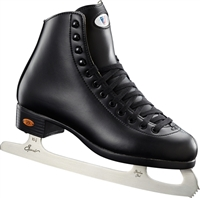Boys' Black Riedell 10 Ice Skates