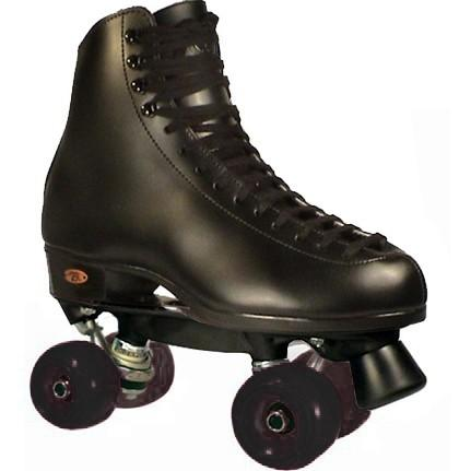 New Riedell Aerobic 111 Men's Outdoor Quad Roller Skates in Black