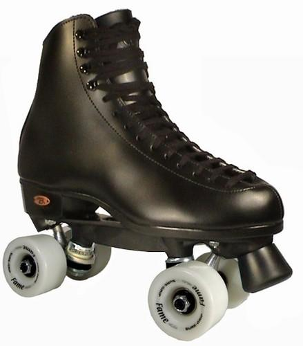 New Riedell FAME 111 Men's Indoor Quad Roller Rink Skates in Black