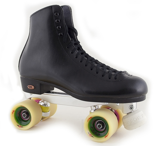 Riedell Roller Skates Black Boot Mariner Cup 120 Atom G-Rod Wheels