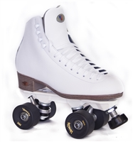 Rink Skates Leather White Medium width