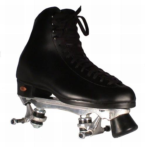 Pre-Mounted Riedell boots Riedell all leather quality quad skates with plates - chassis attached