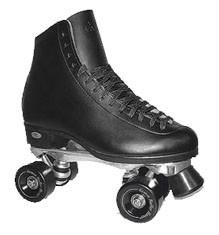 DLX Riedell 120 roller skates for indoor rink skating and/or dancing. Great for skaters who want a long lasting skate!