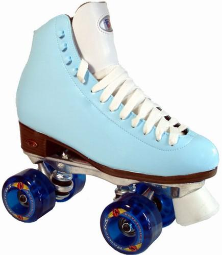 light blue roller skates