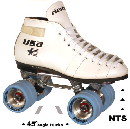 Riedell 122 White Speed Ray for Roller Derby. Real Speed Boots and Riedell quality