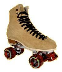 "Suede ""Buckskin"" Roller Skates from Riedell"