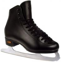 Boys' Riedell 21J Black Ice Skates with Topaz Blades