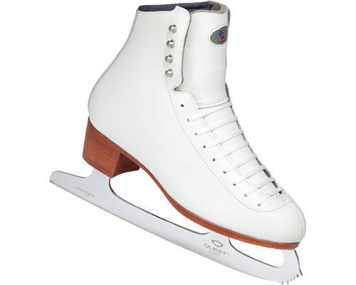 Riedell 29 TS Girls Ice Skate White Boot