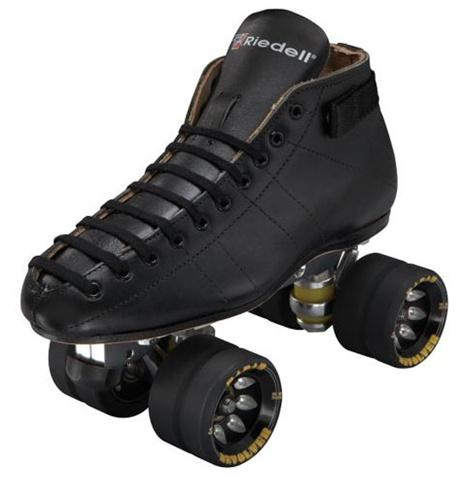 Riedell 595 Monster Quad skates with Reactor Plate for speed skating.