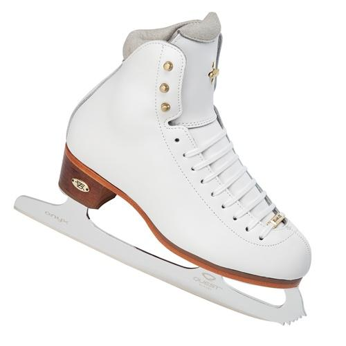 Riedell 91 LS Junior White Ice Skates Quest Onyx blades