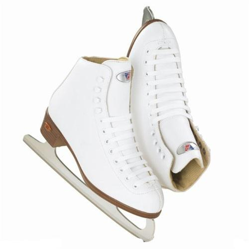 Riedell Ice skates Blue Ribbon 21J girls white with blade