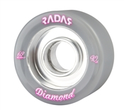 Radar Roller skate wheels Diamond 62mm x 31mm Ultra Narrow (8 set)