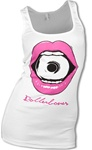 Rollerbones Roller Derby Tank Top Bite - White