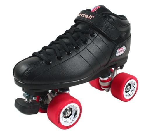 Riedell R3 BREAKER Quad Speed Roller Skates Black