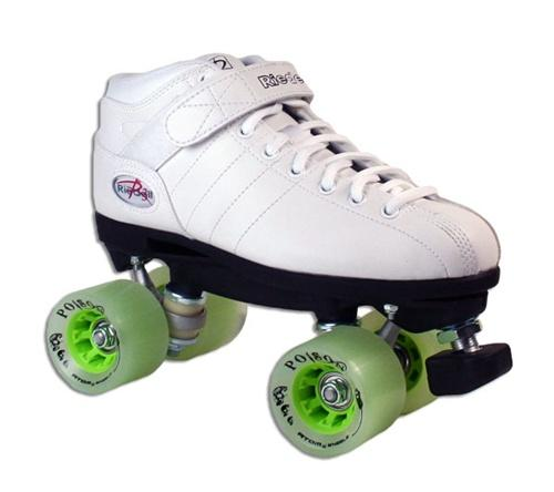 Riedell R3 POISON Quad Speed Roller Skates White