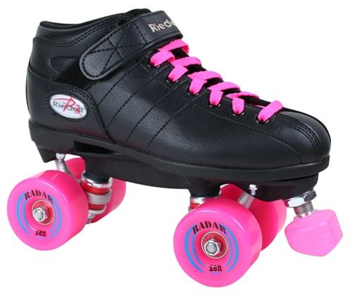 Riedell R3 Outdoor Roller Skate Pinky Package - Black