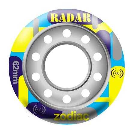 Quad Speed Skate Wheels 62mm ZODIAC Blue Grip (93a)  Pale Green Firm(96a) durometer