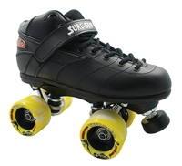 Sure-Grip Rebel Twister Roller Skates - Black Boot