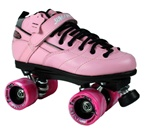 Sure-Grip Rebel Twister Roller Skates - Pink Boot