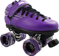 Sure-Grip Rebel Twister Roller Skates - Purple Boot