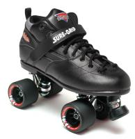 Sure-Grip Rebel Fugitive Roller Skates - Black Boot