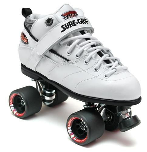 Sure-Grip Rebel Fugitive Roller Skates - White Boot