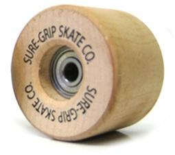 Sure-Grip Original Wood roller skate wheels 57mm 608
