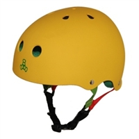 Triple 8 Brainsaver Helmet - RASTA YELLOW