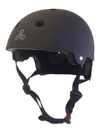 Triple 8 Brainsaver Helmet - BLACK RUBBER - Black Strap