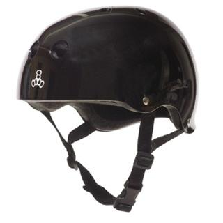 Triple 8 Brainsaver Helmet with EPS Liner - BLACK GLOSS