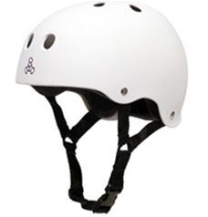 Triple 8 Brainsaver Helmet with EPS Liner - WHITE RUBBER