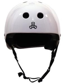 Triple 8 Standard Helmet - WHITE GLOSS