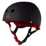 Brainsaver SS Helmet - Black Rubber w/Red