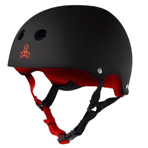 Triple 8 Brainsaver SS Helmet - Black Rubber w/Red