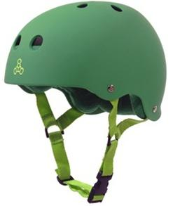 Triple 8 Brainsaver Helmet - KELLY GREEN RUBBER