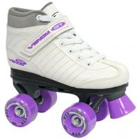 Roller Derby Venom White with Purple Wheels
