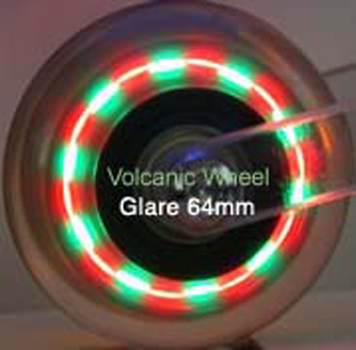 inline skate wheels that are lighted wheels