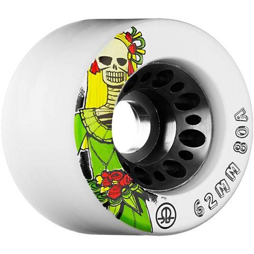 Rollerbones Roller Derby Wheels Day of the Dead 62mm x 80A